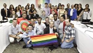 O Conselho Nacional de Lésbicas, Gays, Bissexuais, Travestis e Transexuais (foto de Tamires Kopp)