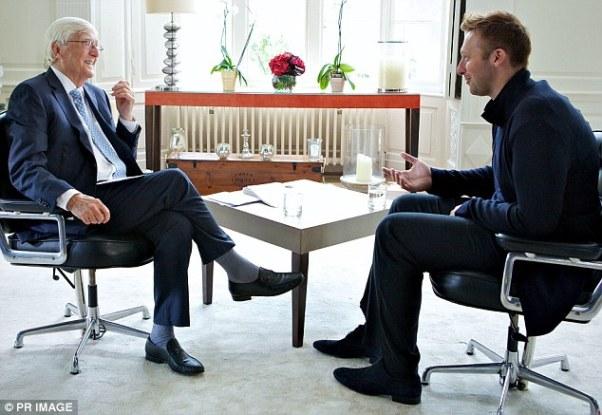 Ian Thorpe foi entrevistado por Michael Parkinson (foto: Primage/divulgação)