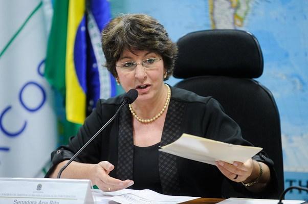 Senadora Ana Rita (PT), presidente da Comissão de Direitos Humanos e Legislação Participativa do Senado Federal