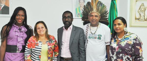 Ariselma Pereira   secretária estadual de Justiça, Cidadania e Direitos Humanos (SJCDH) recebeu visitas na nova sede