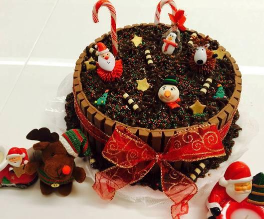 granulado - torta kit kat natalina - 2