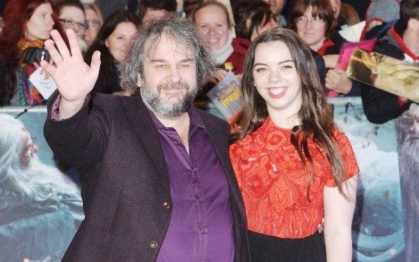"""Anthony Harvey/Getty Images Peter Jackson e Katie Jackson na estreia mundial de 'O Hobbit: A Batalha dos Cinco Exércitos"""", em Londres"""