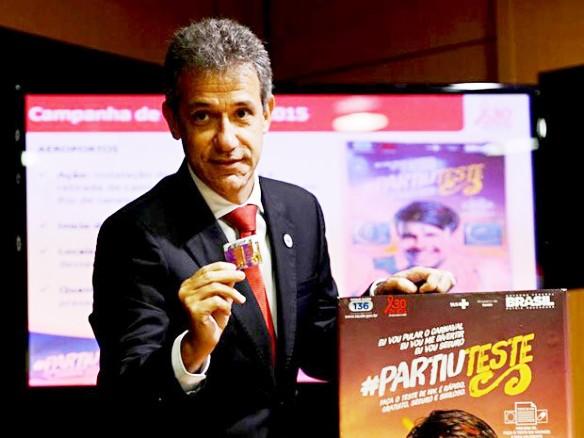 O ministro da Saúde, Arthur Chioro, durante lançamento de campanha de prevenção de DST/Ainds no Ministério da Saúde (Foto: Fabio Rodrigues Pozzebom/Agência Brasil)