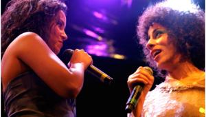 Márcia castro e Mayra Andrade dividem o palco na sexta-feira. Foto: Alessandra Nohvais