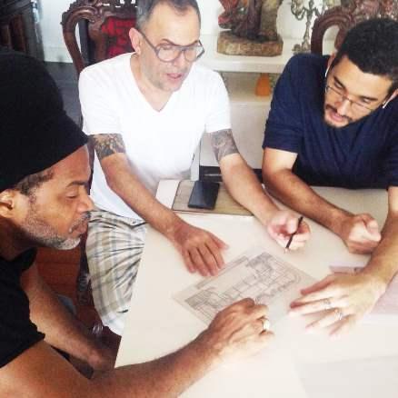 Carlinhos brown, Paulo Borges e Pedro Caldas