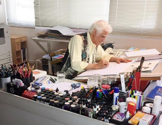 O escritor Ziraldo inaugura a exposição, pessoalmente, no dia 29 de setembro
