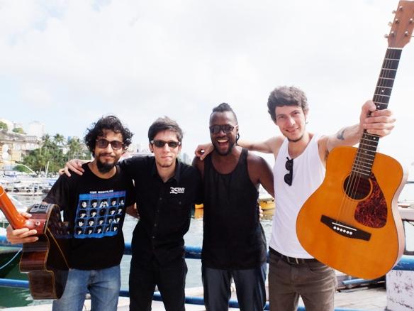 Dão e a banda Vivendo do Ócio (Foto: Genilson Coutinho)