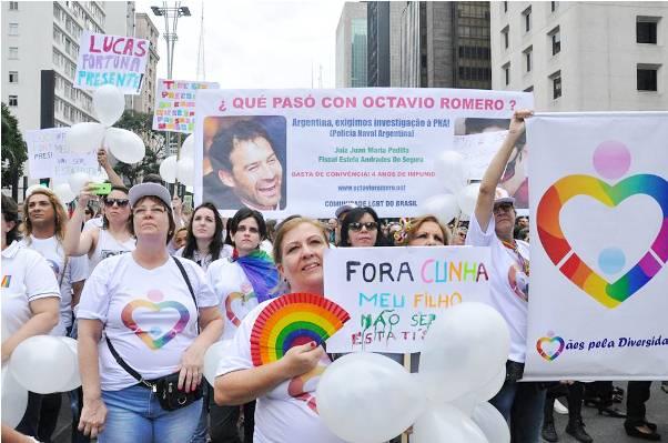 Maju Giorgi na Parada Gay de São Paulo (Foto: Genilson Coutinho)