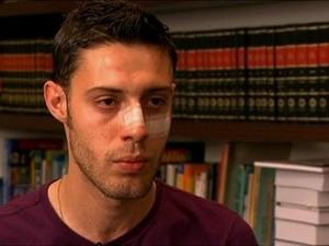 Luís Alberto foi agredido quando tinha 23 anos (Foto: Reprodução/ TV Globo)