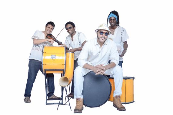 Banda Afrodisíaco. Foto: Divulgação.