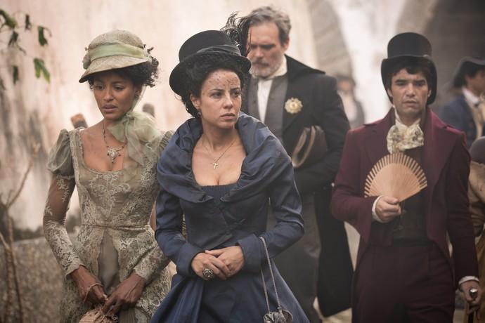 Em 'Liberdade, Liberdade', André será irmão e confidente de Joaquina, papel de Andreia Horta (ao centro) (Foto: Fabiano Battaglin/Gshow)