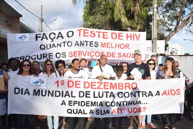 Em Salvador teve caminhada no Centro da Cidade /Foto: Genilson Coutinho