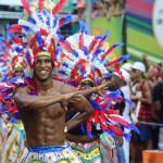Bloco Apaches do Tororó no Carnaval Ouro Negro (Foto: André Frutuoso)