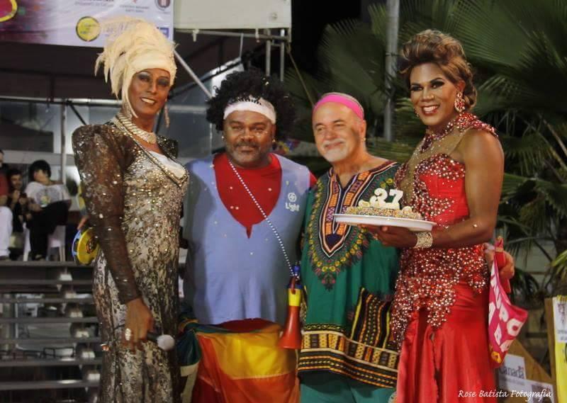 Teve bolo na celebração dos 37 anos do Grupo gay da Bahia