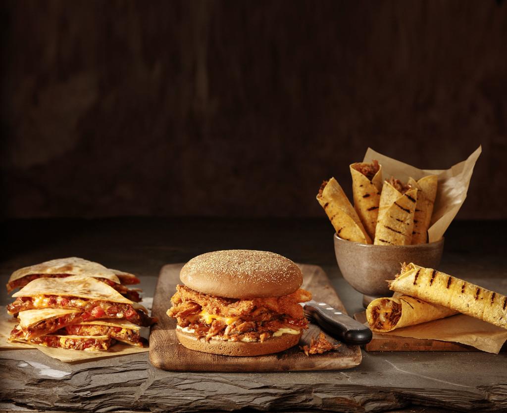 Ribs Dillas, Ribs Bloomin' Burger e Ribs Rolls