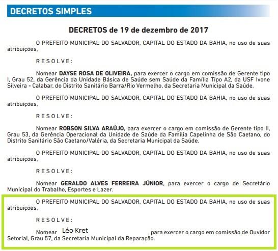 OUVIDORIA-Prefeitura-nomeia-Léo-Kret-em-cargo-que-paga-mais-de-R-6-mil-mensalmente