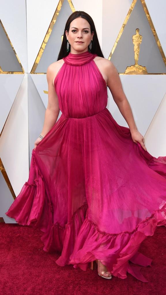 Daniela Vega, protagonista do filme chileno 'Uma mulher fantástica', vencedor do prêmio de Melhor Filme Estrangeiro, chega ao Oscar 2018 (Foto: Jordan Strauss/Invision/AP)