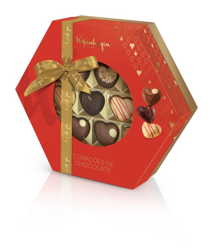 Corações de Chocolate 228g Kopenhagen